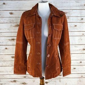 BKE Diva Suede Button Jacket (W14398)